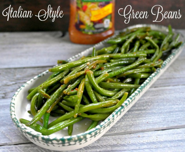 Italian Seasoned Fresh Green Beans from Teaspoon of Goodness