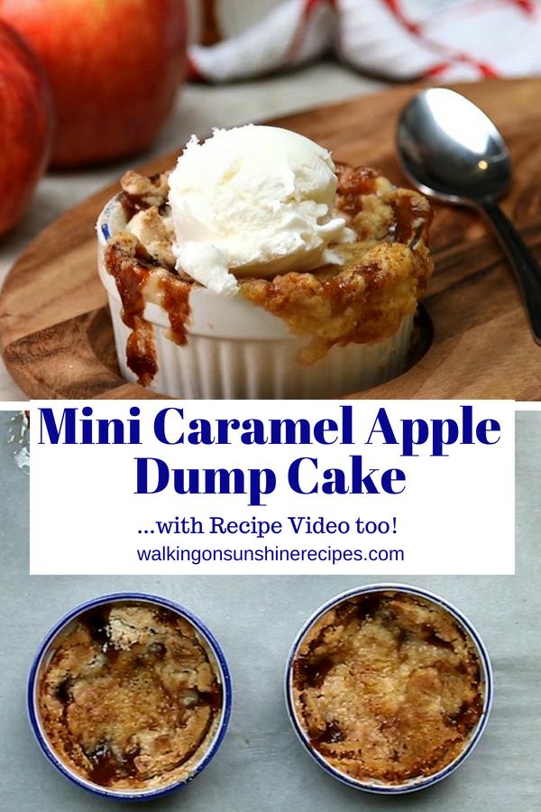 Mini Caramel Apple Dump Cake