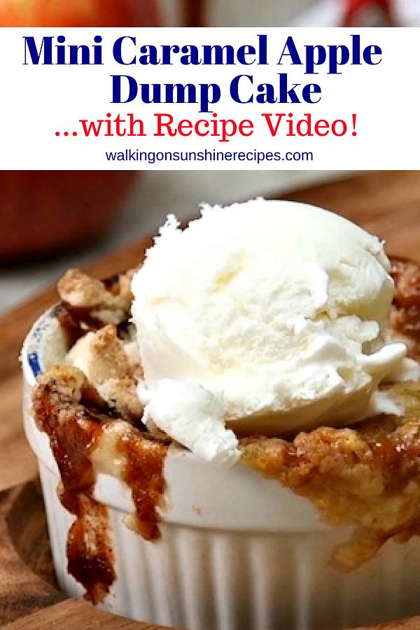 Mini Caramel Apple Dump Cake with Recipe Video