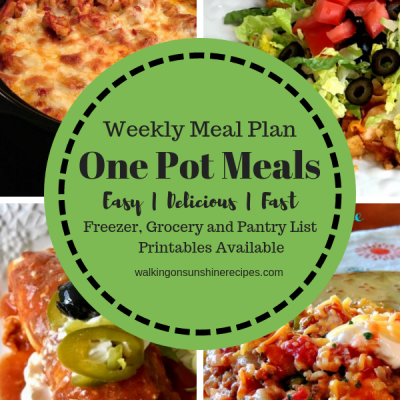 Weekly Menu Plan:  One Pot Meals