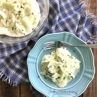 German Cucumber Salad with Sour Cream Dressing - Just like Oma's