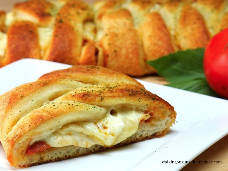 Pizza Pepperoni Braid made with refrigerated pizza dough