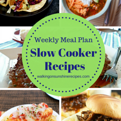 Weekly Meal Plan: – 5 Delicious Slow Cooker Recipes for Dinner