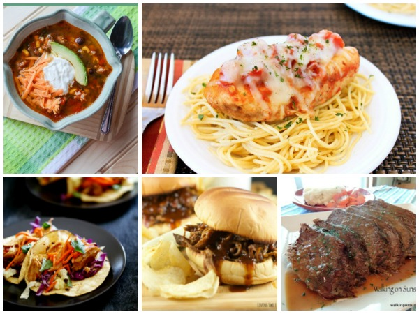 Slow cooker recipes are featured this week for our Weekly Meal Plan.