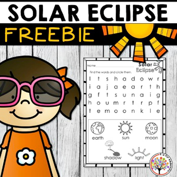 Solar Eclipse Freebie from Teachers Pay Teachers