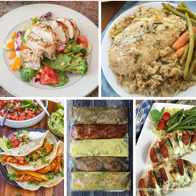 chicken recipes featured for a weekly meal plan