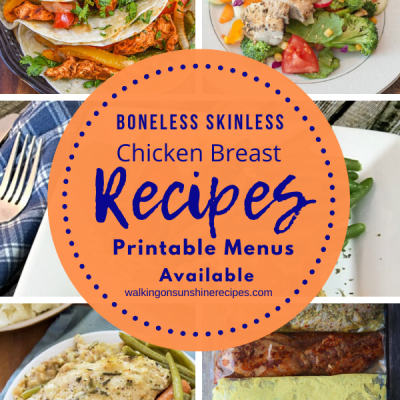 Weekly Meal Plan:  5 Delicious Boneless Skinless Chicken Breast Recipes for Dinner