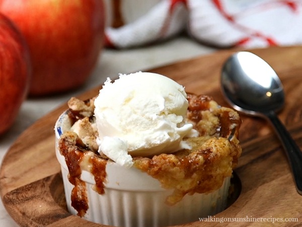 Apple Caramel Dump Cake from Walking on Sunshine Recipes.