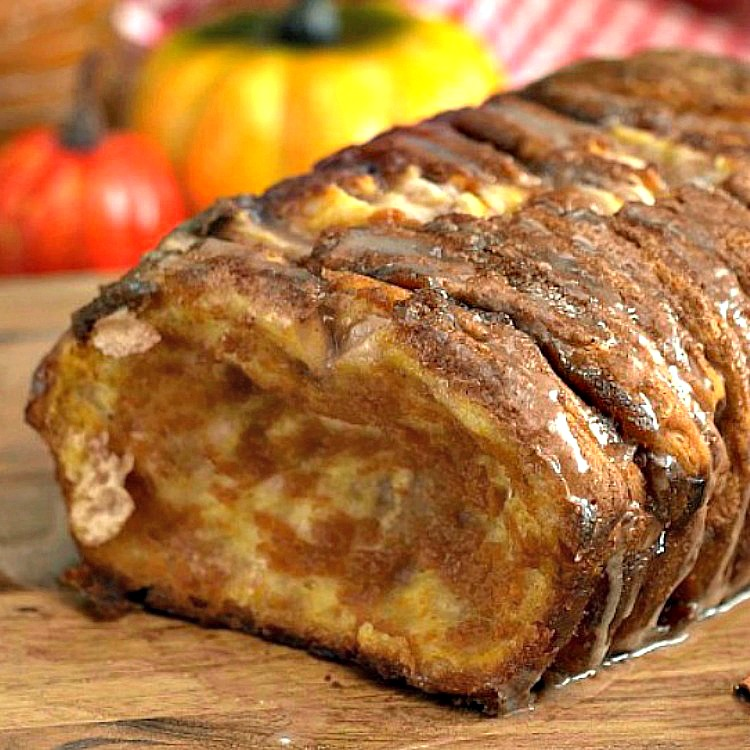 Closeup of Pumpkin Spice Pull Apart Bread