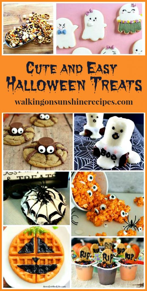Cute and Easy Halloween Treats featured on Walking on Sunshine Recipes