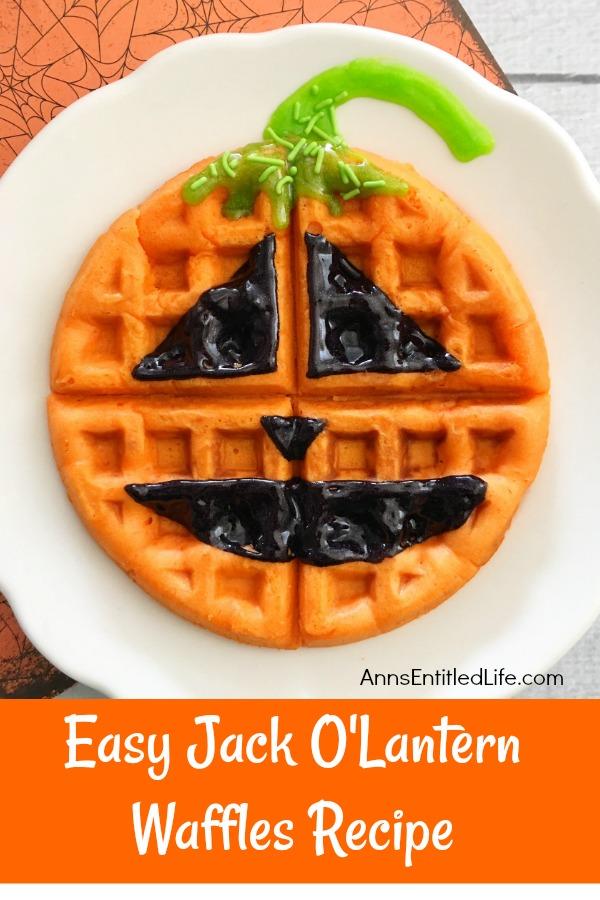 Easy Jack O'Lantern Waffles from Ann's Entitled Life