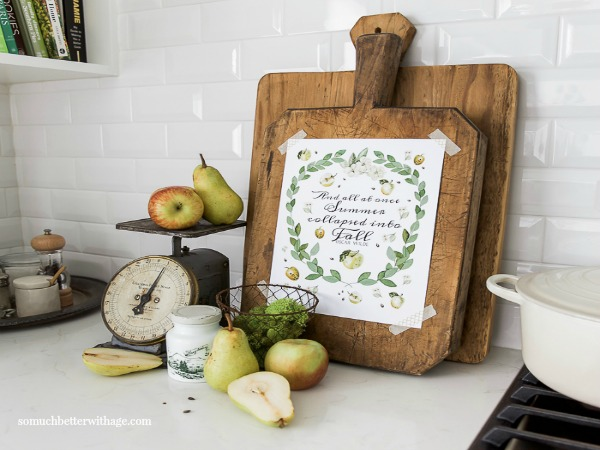 Free printable from So Much Better with Age featured on Walking on Sunshine Recipes.