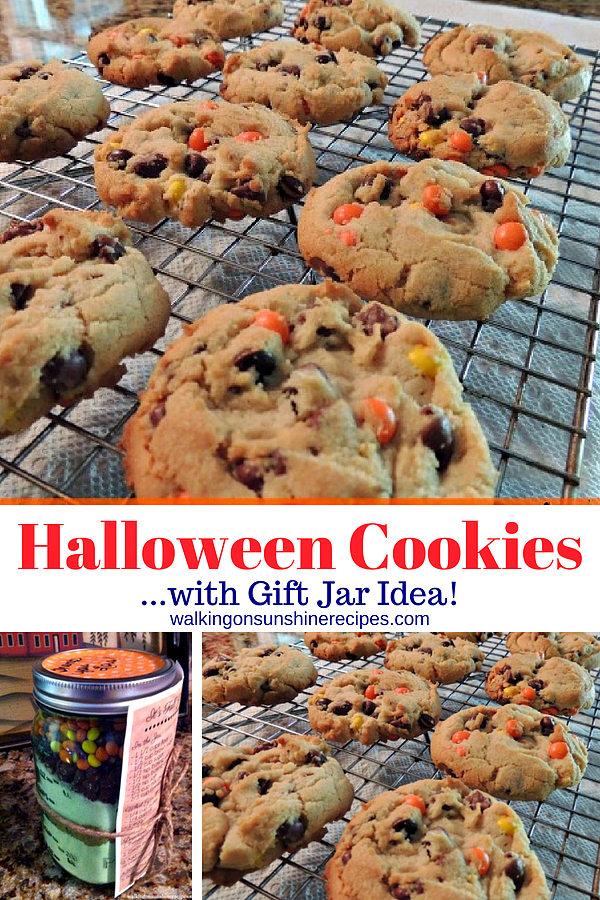 Halloween Cookies with Mason Jar Gift Idea