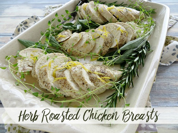 Herb Roasted Chicken Breasts from 5 Minutes for Mom
