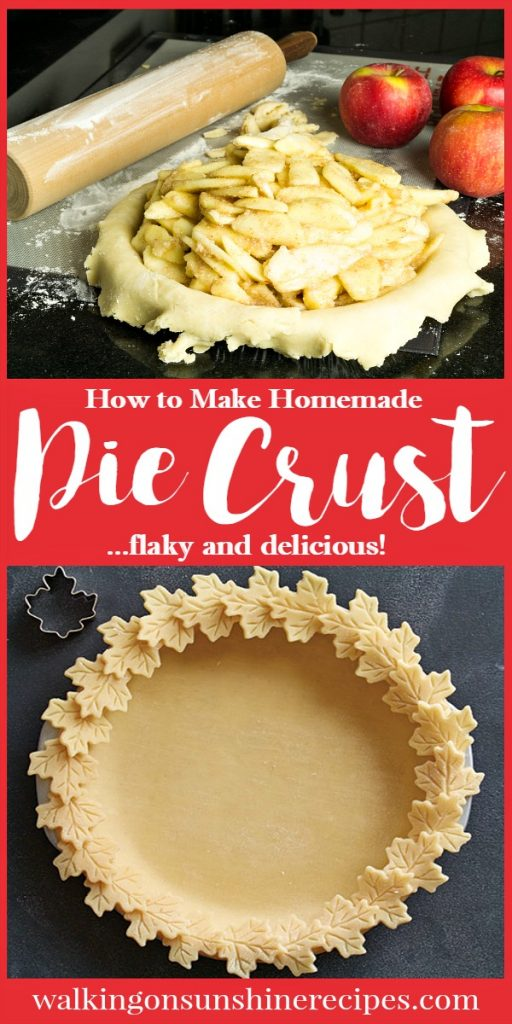Step by Step Photo Instructions on How to Make Perfect Pie Crust Dough Recipe from Walking on Sunshine Recipes.