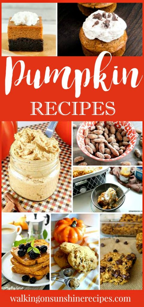 The Most Amazing Pumpkin Dessert Recipes to celebrate the start of Fall featured on Walking on Sunshine Recipes.