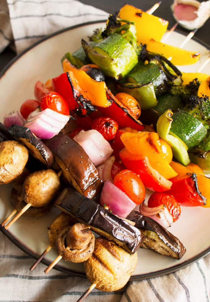 Rainbow Veggie Kabobs from HOney and Birch