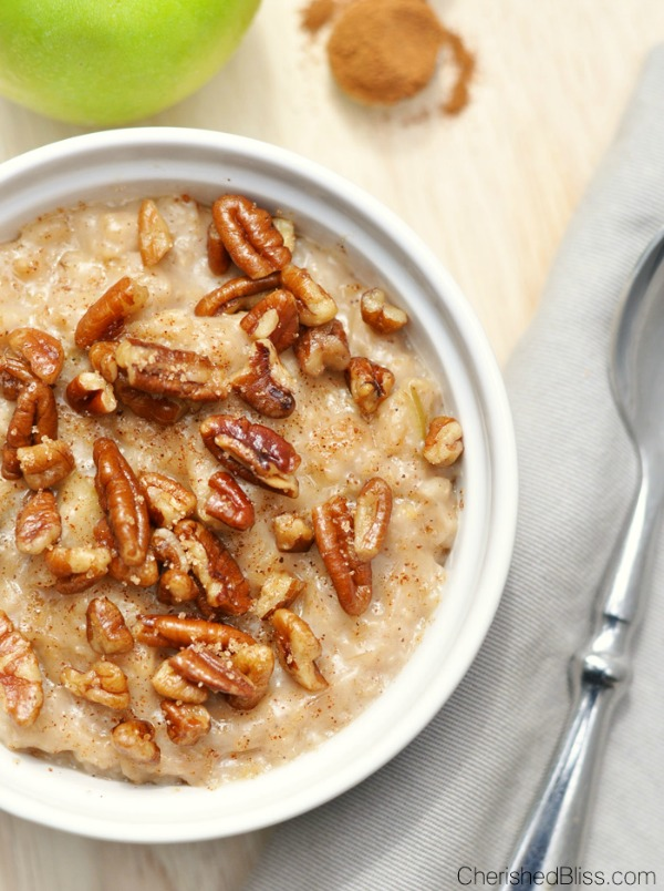 Slow Cooker Apple Pie Oatmeal from Cherished Bliss
