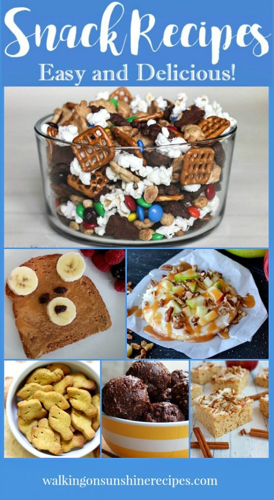 The best snack recipes featured on Walking on Sunshine Recipes.