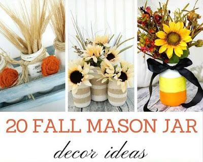 20 Fall Mason Jar Decor Ideas from Refresh Restyle
