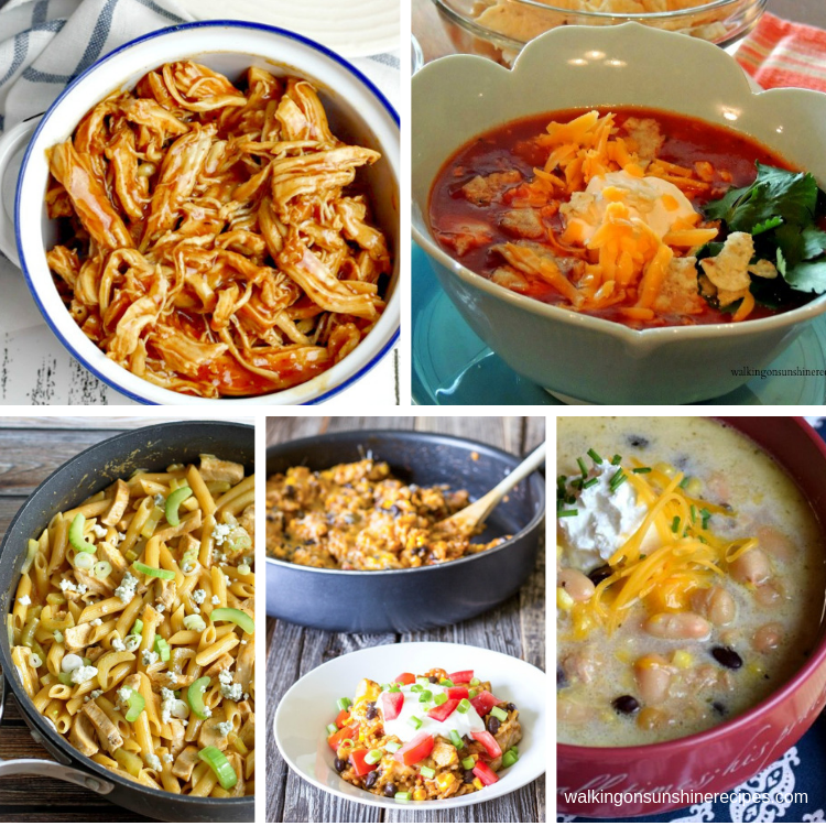 shredded chicken recipes weekly meal plan