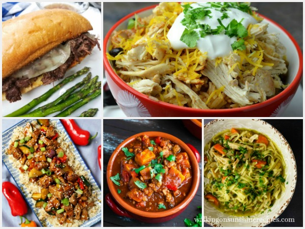 5 Instant Pot Recipes | Weekly Menu Plan | Walking on Sunshine Recipes featured photo