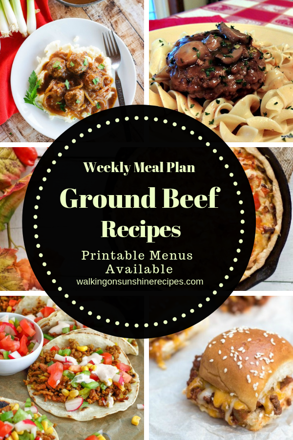5 delicious ground beef recipes.