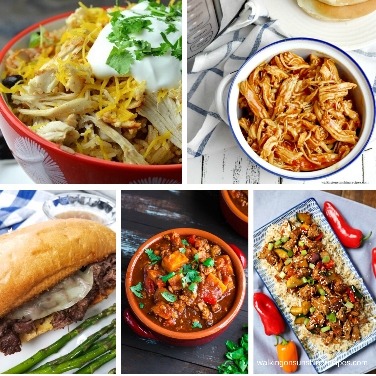 5 different instant pot recipes for dinner this week.