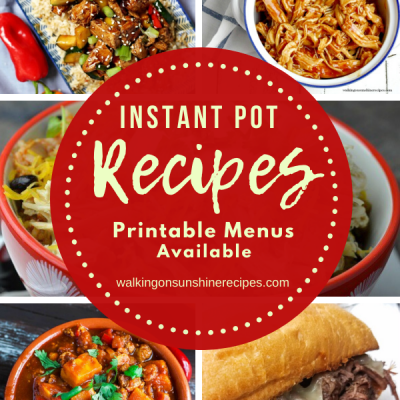 Weekly Menu Plan: 5 Easy Instant Pot Recipes