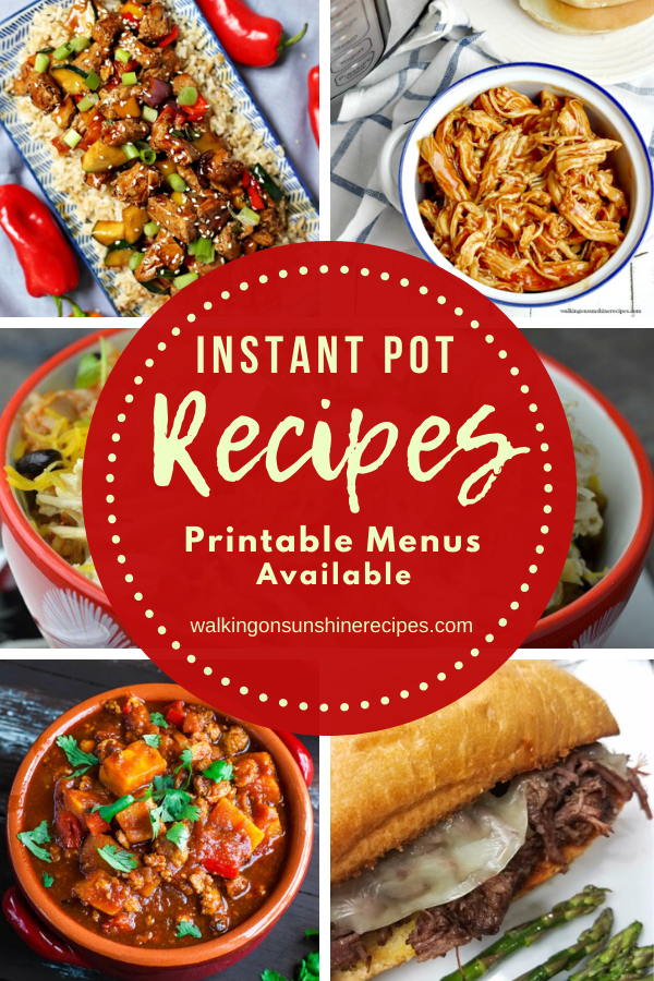 5 different and easy to make instant pot recipes.