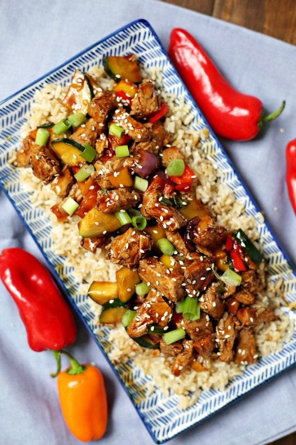Instant Pot Kung Pao Chicken from Slap Dash Mom