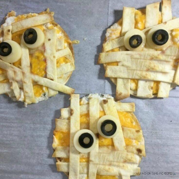 Cheesy Mummy Quesadillas