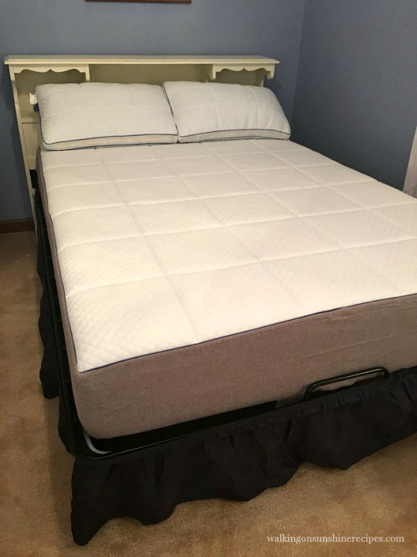 Nectar Mattress with pillows ready for bed sheets from Walking on Sunshine Recipes