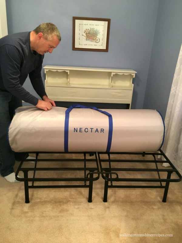 Opening up Nectar Mattress from Walking on Sunshine Recipes