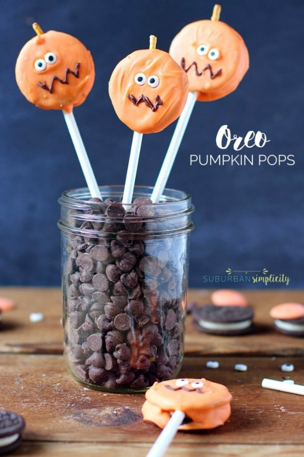 Oreo Pumpkin Pops from Suburban Simplicity