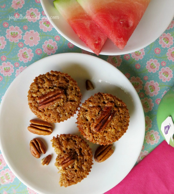Pecan Pie Muffins from Joyful Homemaking