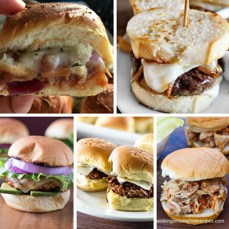 5 delicious slider sandwiches for dinner