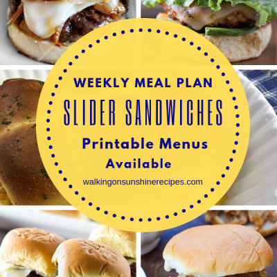 Weekly Meal Plan: Easy Slider Sandwiches for Dinner