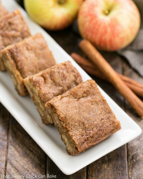 Apple Brownies from That Skinny Chick Can Bake