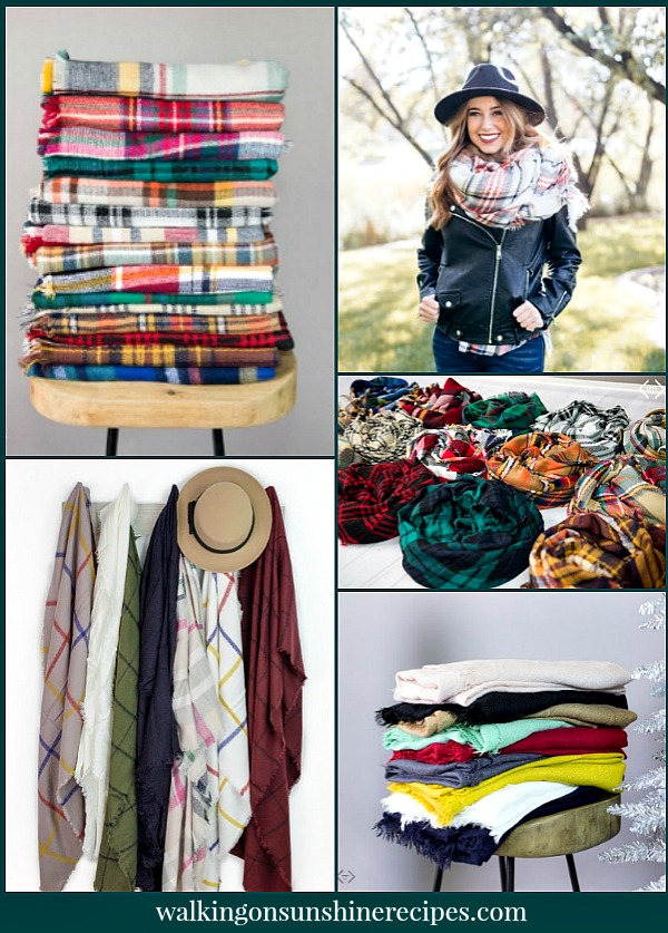 Blanket Scarves make great gifts and at this price you can afford to get a few for yourself too! Use them even in your home decor. Walking on Sunshine Recipes Gift Guide for Christmas.