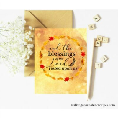 The Blessings of the Lord Psalms 90 – FREE Printable