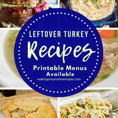 Weekly Meal Plan: 5  Leftover Turkey Recipes for Dinner