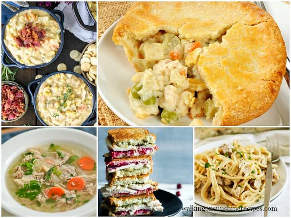 Leftover Turkey Weekly Menu Plan Walking on Sunshine Recipes FEATURE Photo