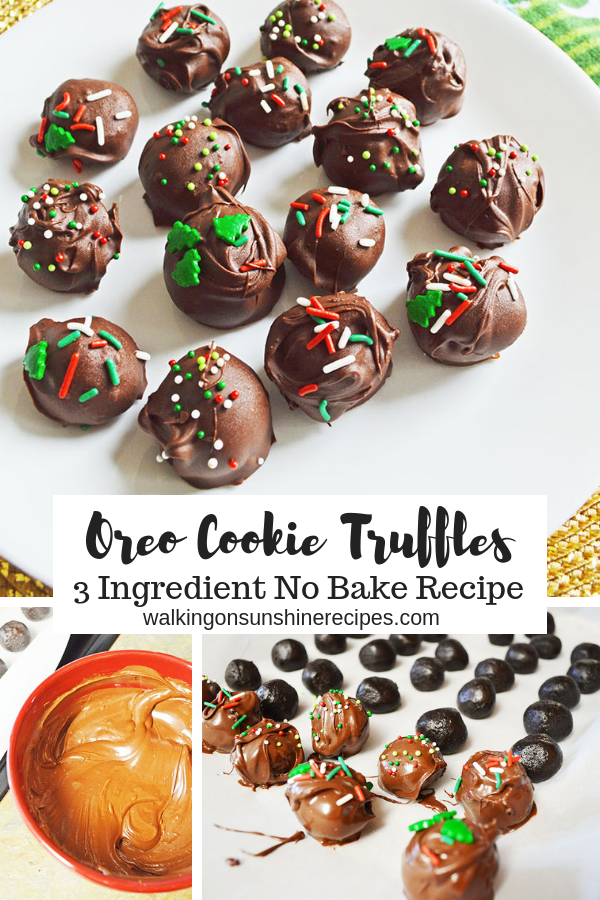Oreo Cookie Truffles Easy No-Bake recipe