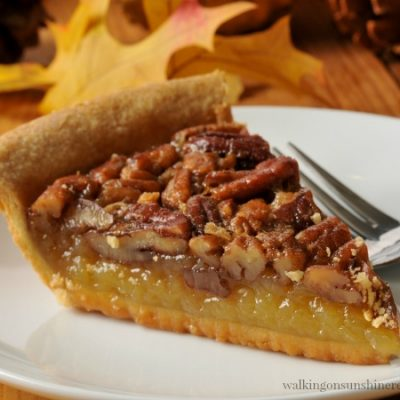 Recipe:  Homemade Pecan Pie