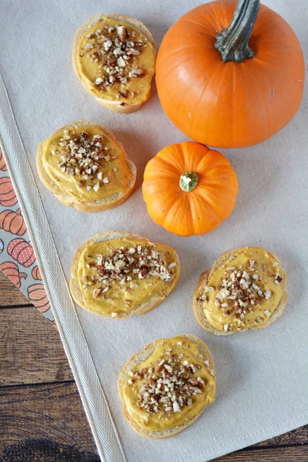 Pumpkin Cream Cheese Pecan Appetizers from This Mama Loves