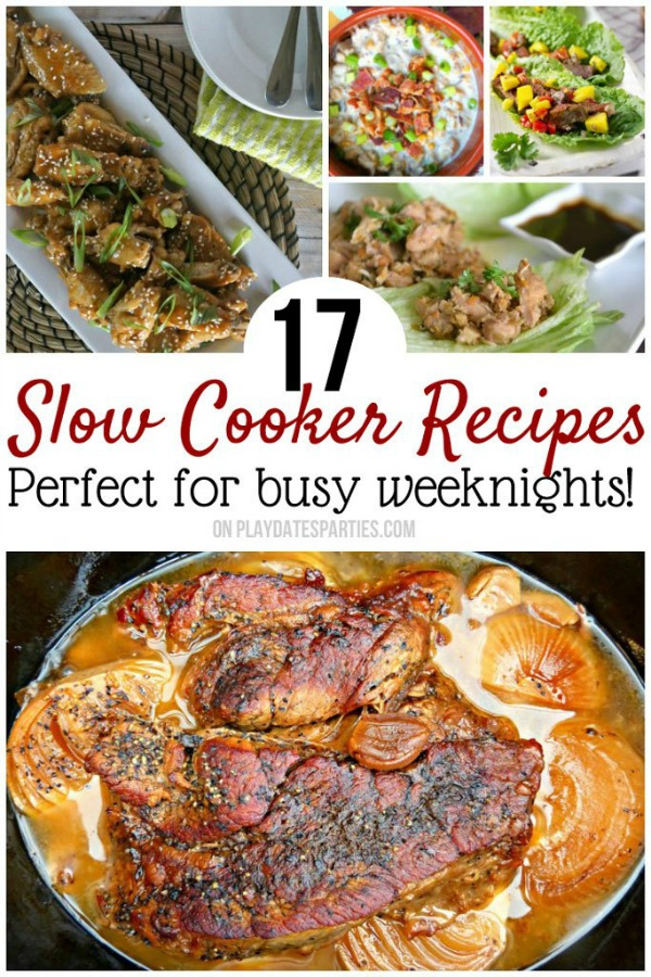 Slow Cooker Dinner Recipes from Play Dates to Parties