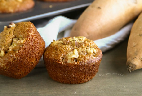 Sweet Potato Breakfast Muffins from Kleinworth and Co.