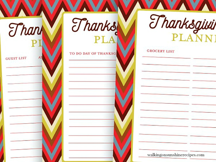 picture regarding Thanksgiving Planner Printable named Thanksgiving Planner Printables Going for walks upon Sunlight Recipes
