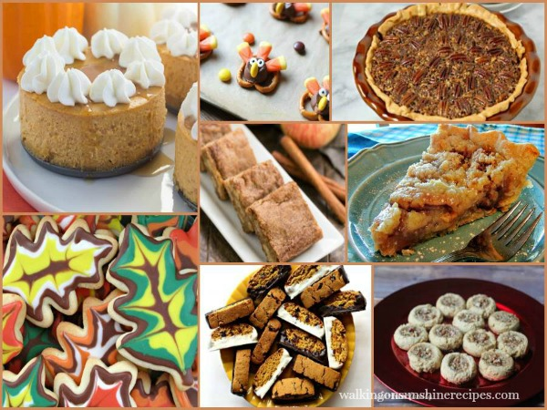 Thanksgiving Desserts | Delicious Dishes | Walking on Sunshine Recipes